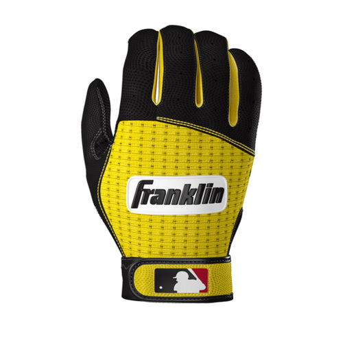 Franklin Pro Classic ADULT Black and Yellow Batting Gloves - Peligro Sports Edition