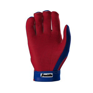 Franklin Pro Classic ADULT Royal Blue and Red Batting Gloves - Peligro Sports Edition
