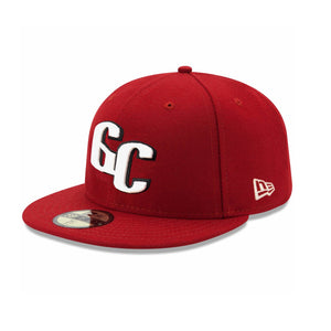 Men's New Gigantes del Cibao New Era Cardinal Color 59FIFTY Fitted Hat