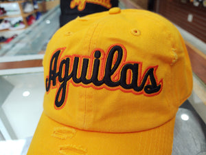 Aguilas Cibaeñas Embroidered Vintage Yellow/Yellow Aguilas Hat