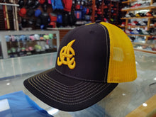 Aguilas Cibaeñas Embroidered Mesh Trucker Black-Yellow Hat