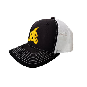 Aguilas Cibaeñas Embroidered Mesh Trucker Black/White Hat