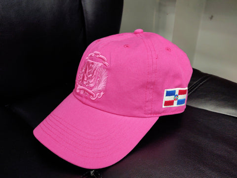 Escudo Republica Dominicana - Dominican Shield Pink/Pink Color Dad Hat