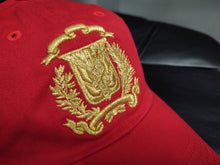 Escudo Republica Dominicana - Dominican Red/Metallic Gold Shield  Dad Hat
