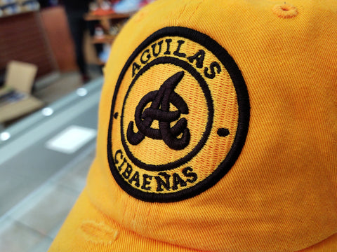 Aguilas Cibaeñas Embroidered Vintage Gold Round-Logo Hat