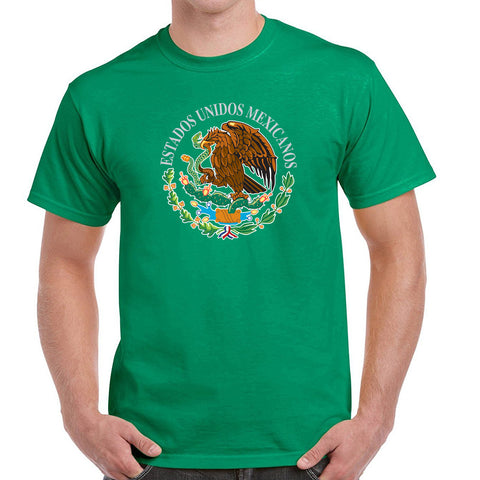T-Shirts with mexican shield printed with high quality