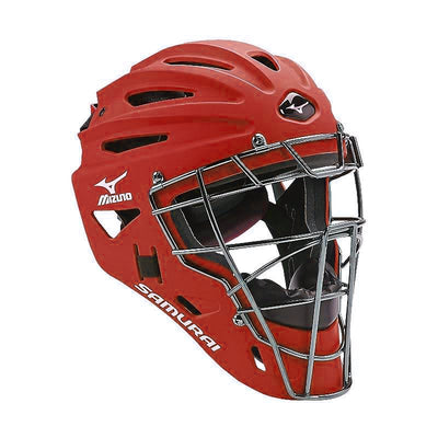 Mizuno Samurai G4 Baseball Catcher's Helmet - 380191 - BLACK - RED - BLUE