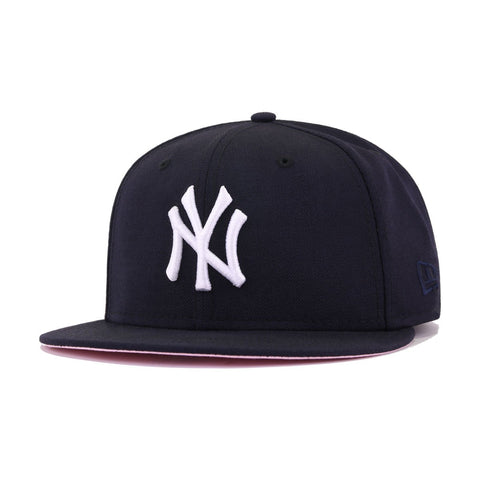 New York Yankees Navy Pink Bottom 2000 World Series New Era 59Fifty Fitted