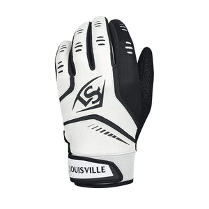 Louisville Slugger Omaha Adult Batting White-Black Glove