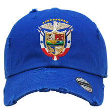 Panama Vintage Hats with Panana Shield and Flag