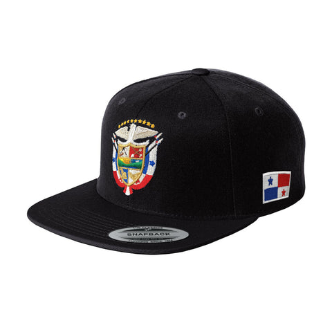 Panama Snapback Hats with Panana Shield and Flag