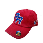 Puerto Rico Vintage Red/Royal blu logo hats
