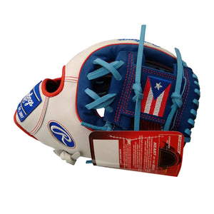 "Rawlings Heart of the Hide 11.5"" Baseball Glove - Puerto Rican Flag"