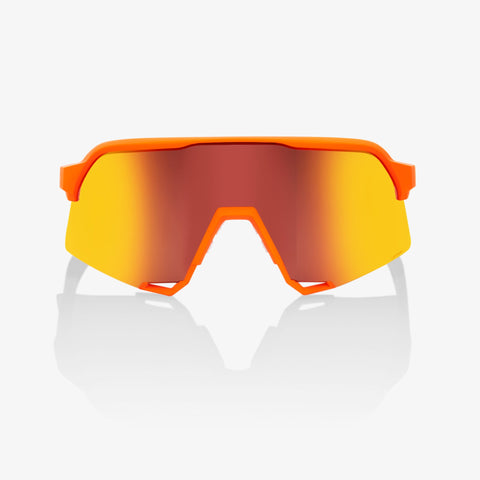 100% S3® Neon Orange HiPER® Red Multilayer Mirror Lens + Clear Lens Included