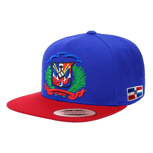 Escudo Republica Dominicana - Dominican Snapback Royal-Red-Full Color Hat