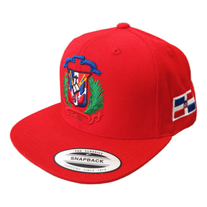 Escudo Republica Dominicana - Dominican Snapback Red-Full Color Hat
