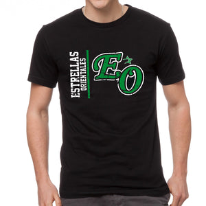 Dominican Baseball Team - Estrellas Orientales Vintage Design Black T-Shirts
