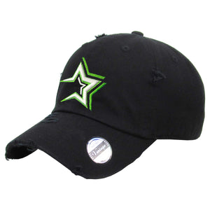 Estrellas Orientales Embroidered Vintage Black Hat – Peligro Sports 4eb5ade5a7c9
