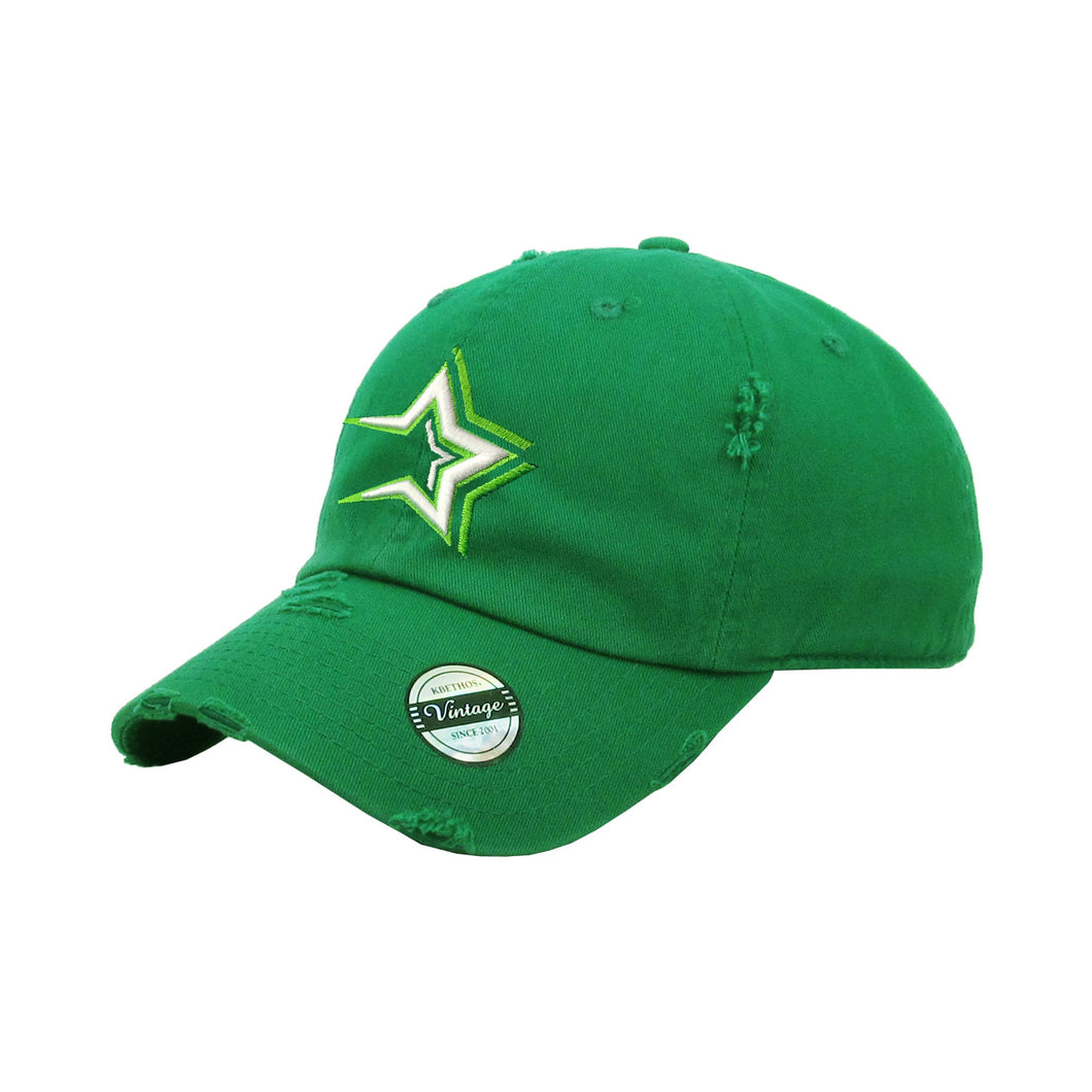 Estrellas Orientales Embroidered Vintage Kelly Green Hat