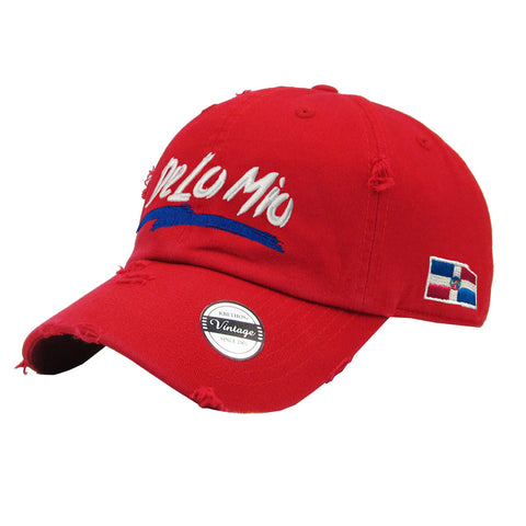 De lo mio  embroidered  logo Dominican Vintage Hat