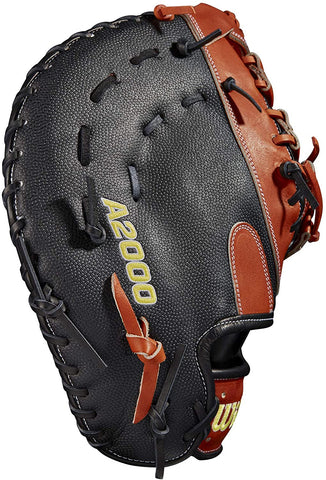 Wilson 12.5'' 1620 A2000 SuperSkin Series First Base Mitt Spin Control 2021 - WBW10012315