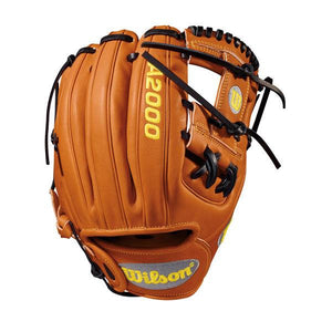 "Wilson Orange 11.5"" A2000 DP15 Infield Right-Hand Throw Baseball Glove"
