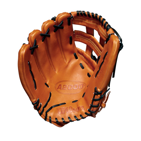 "Wilson Orange 12.75"" A2000 1799 Outfield Left-Hand Throw Baseball Glove"
