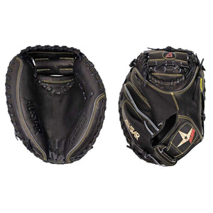 "All Star Pro-Elite Solid Black Baseball Catcher's Mitt, 33.5"" - CM3000MBK-1"
