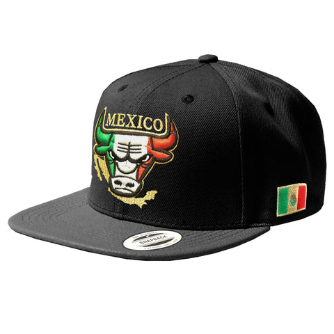 Embroidered SnapBack Mexican Bull logo Hat