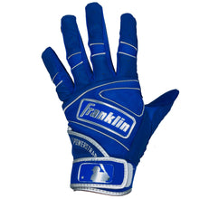 Franklin Adult Power Strap Royal Blue/Chrome Batting Gloves