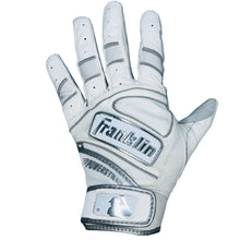 Franklin Adult Power Strap White/Chrome Batting Gloves
