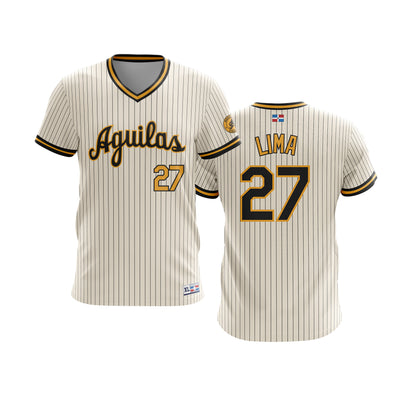 Dominican Hall of Fame - Aguilas Cibaenas - Lima 27 - Cream