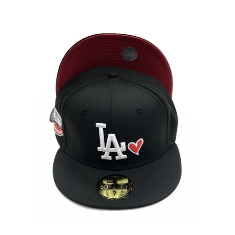 Los Angeles Dodgers Red Brim Fifted Hat