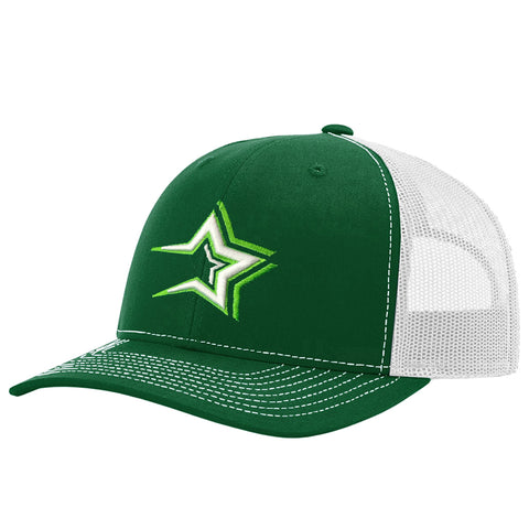Dominican Baseball Team Caps – Estrellas Orientales – Green/white Hat Embroidered Logo