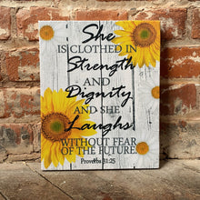 Inspirational Wall Canvas, Proverbs, Bible Verse, Women's Inspiration, Custom Gift