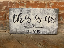 This Is Us,                 CUSTOM CANVAS Wedding or Anniversary Personalize for FREE