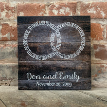 Rustic Infinity Symbol Canvas, Perfect Valentine's Day, Anniversary Or Wedding Gift,