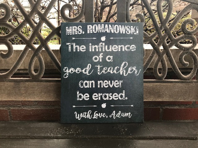 Chalk Board Style Teachers Gift, CUSTOM CANVAS, Personalize the names!