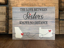 Love Knows No Distance, Personalized Canvas, Family/Friends, Great Valentine's Day Gift