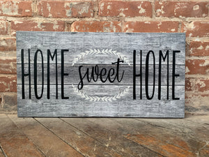 Home Sweet Home Custom Canvas, Perfect Housewarming, Anniversary Or Wedding Gift, Personalize With Established Date