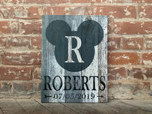Disney Themed Mickey Canvas, Disney Family, Personalize With Family Name And Est. Date