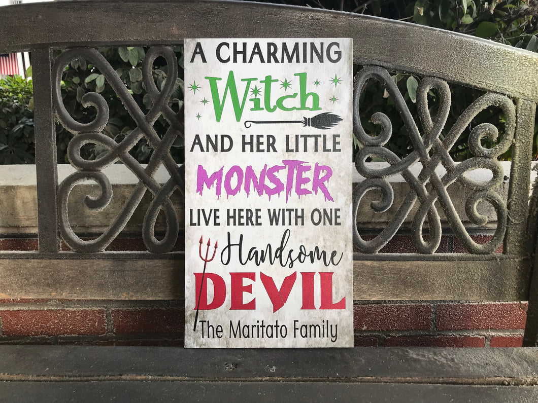 Halloween Sign, Spooky Cute Decor, Personalized Wall Decor