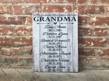 Grandparent Gift, Canvas Sign for Parents, Grandparents, BEST CHRISTMAS GIFT!!