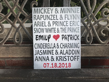 Disney Couple Canvas, Personalized, Perfect Valentine's Day or Wedding Gift