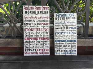 Personalized Grandparents Woodgrain CANVAS