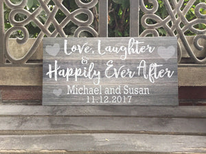 Happily Ever After Custom Canvas, Personalized, Perfect Valentine's Day Gift