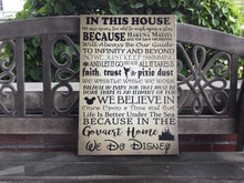 House Rules, Disney Themed Canvas, Magical, Personalize, Family Name