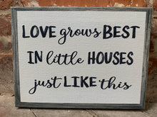 Love Grows Best, Personalized CANVAS, Rustic Farmhouse, 7 Sizes