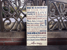 Prayer For Peace Custom CANVAS; Personalized