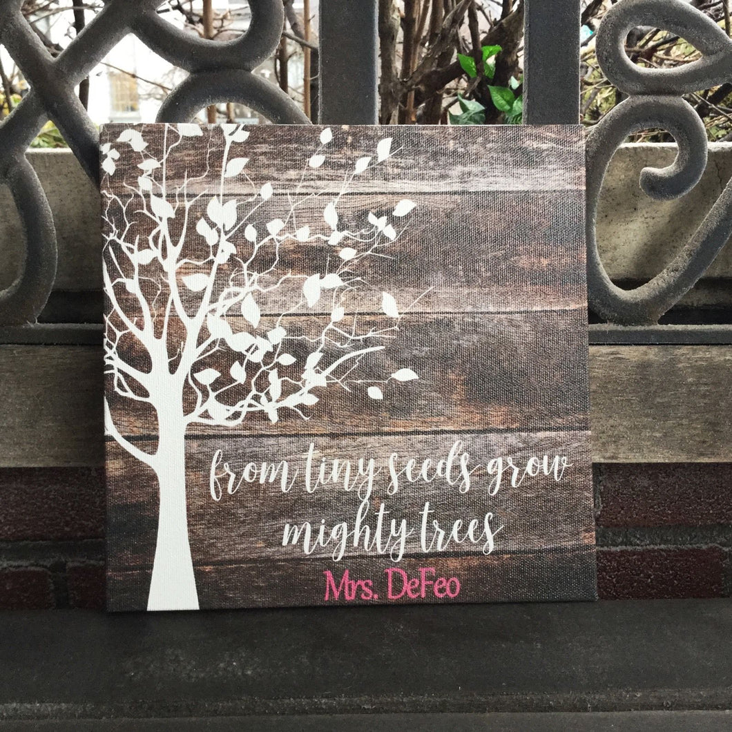 From Tiny Seeds, Custom Canvas, Personalized